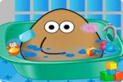 Pou In The Bathroom