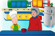 Caillou Cook In The Kitchen