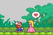 Mario and his girlfriend